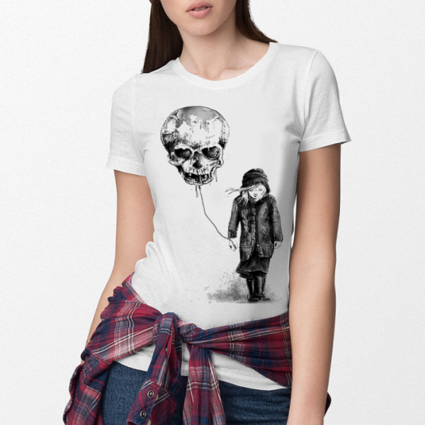 Girl Skull balloon shirt