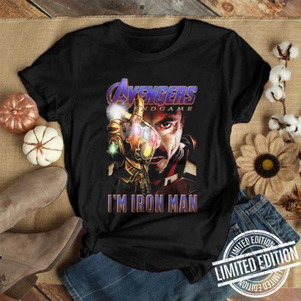 Avengers Endgame The Snap I'm Iron Man Tony Stark shirt