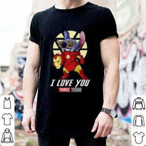 Avengers Iron Man Stitch I love you three thousand shirt