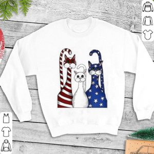 Cat USA flag American shirt