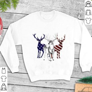 Deer Red white and blue American flag shirt