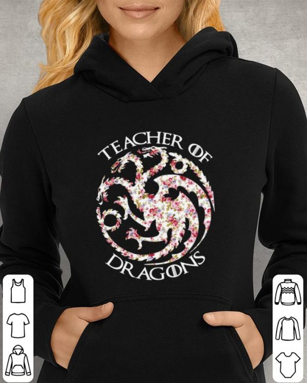 Floral Teacher of Dragons Game of Thrones shirt