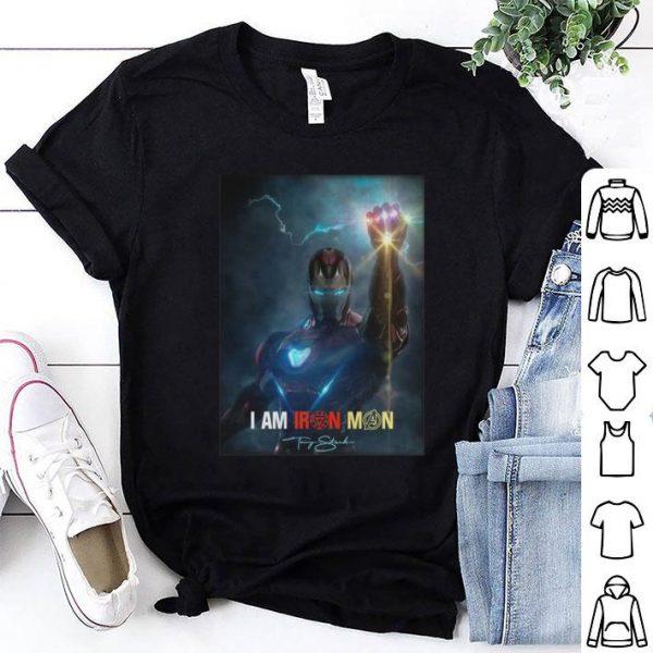 I am Iron Man signature Avengers Endgame potter shirt