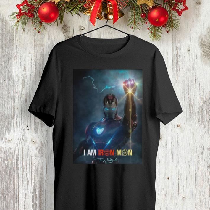 I am Iron Man signature Avengers Endgame potter shirt 4 - I am Iron Man signature Avengers Endgame potter shirt