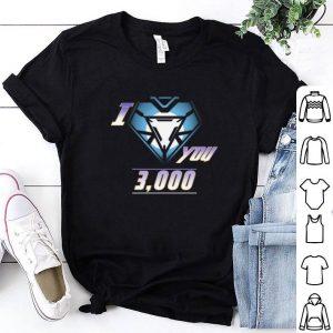 Iron Man and daughter I love You 3000 shirt