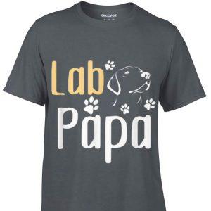 Lab Papa Labrador Retriever Cute Lover Dog Fathers shirt