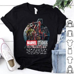Marvel Studios the first eleven years all characters signatures Avengers shirt