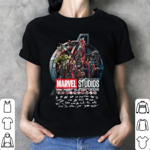 Marvel Studios the first eleven years all characters signatures Avengers shirt 2