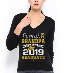 Proud Grandpa Of A Class Of 2019 Graduate shirt 2