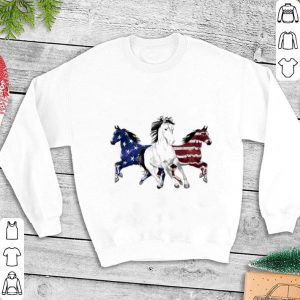 Red white and blue Horse American flag shirt