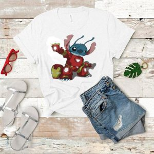 Stitch Mashup Iron Man Avengers Lilo and Disney shirt