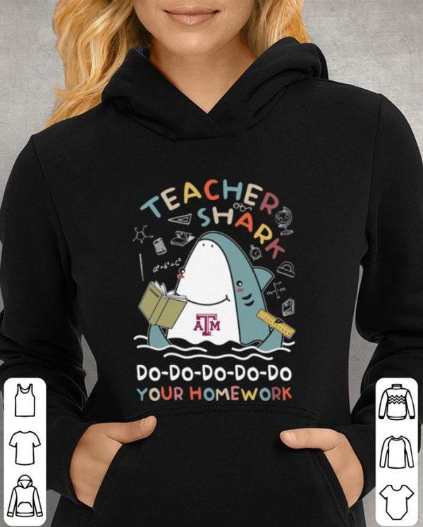 Student Teacher Shark Do Your Homework shirt