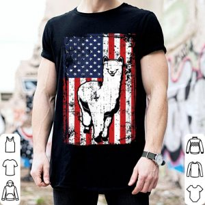 4th Of July American Flag Llama shirt