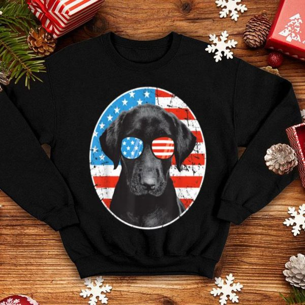 4th Of July Dog American Flag Labrador Retriever shirt