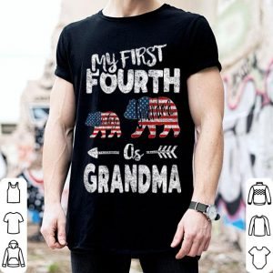 4th Of July For Grandma bear Pregnancy Announcement shirt