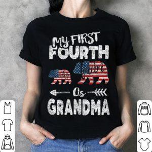 4th Of July For Grandma bear Pregnancy Announcement shirt
