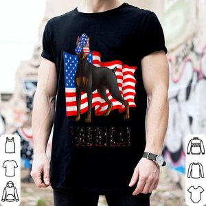 4th of July Doberman Pinscher Dog Merica shirt