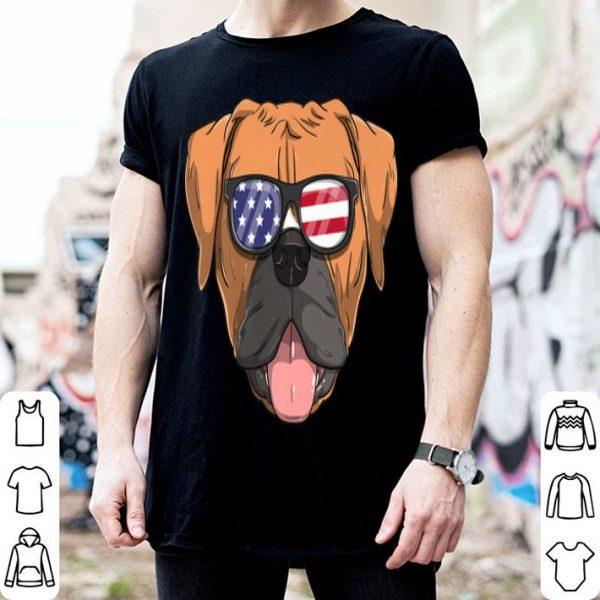 American Boxer Dog Patriotic Usa 4th Of July shirt