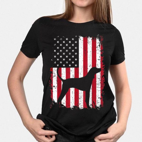American English Coonhound 4th July American Usa Flag shirt