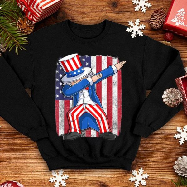 American Flag Dabbing Uncle Sam Patriotic 4th Of July shirt