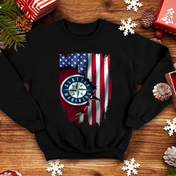 American Flag MLB Seattle Mariners shirt