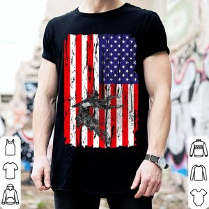 American Flag Usa Dirt Bike Dirtbike Motocross shirt