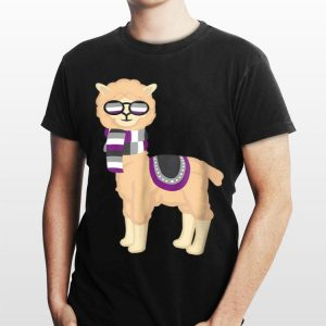 Asexual Pride Cool Llama With Ace Pride Sunglasses shirt