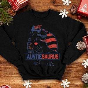Auntiesaurus Patriotic Dinosaur Rex 4th Of July American Flag shirt
