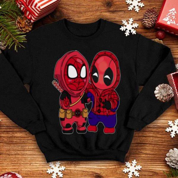 Baby Chibi Spider Man and Deadpool shirt