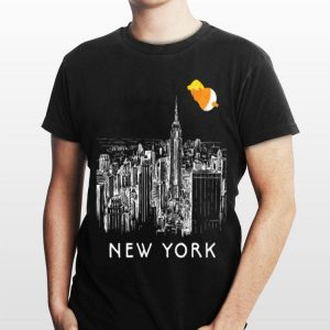 Baby Trump Tour Blimp New York Skyline Balloon Ny City shirt