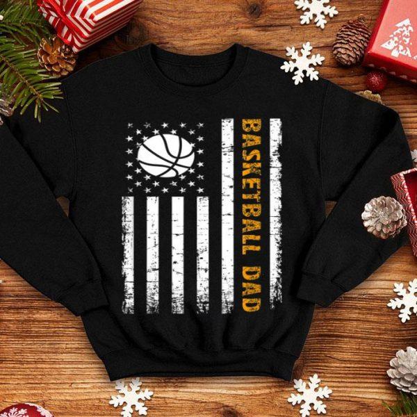 Basketball Dad Fathers Day American Flag shirt