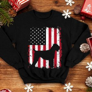Black Russian Terrier 4th July American Usa Flag shirt