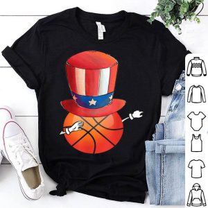 Dabbing Basketball Independence Day American Flag shirt