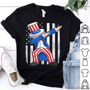 Dabbing Uncle Sam American Flag 4th Of July shirt