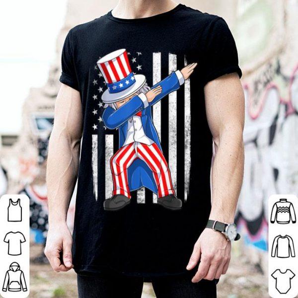 Dabbing Uncle Sam American Flag 4th Of July shirt
