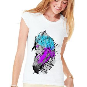 Disney Lion King Simba Circle Of Life Splatter Portrait shirt