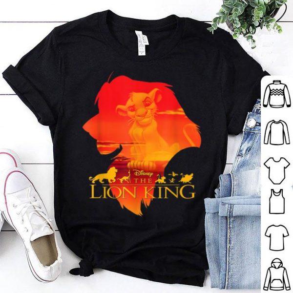 Disney Lion King Simba Silhouette Fill Sunset shirt