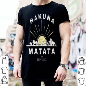 Disney The Lion King Hakuna Matata Sunrise Horizon shirt