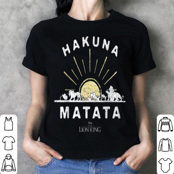 Disney The Lion King Hakuna Matata Sunrise Horizon shirt