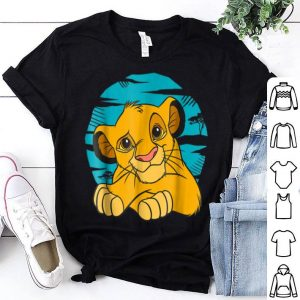 Disney The Lion King Young Simba Resting Blue 90s shirt