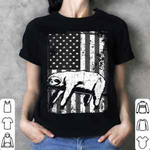 Distressed American Flag Tree Sloth shirt