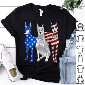 Doberman Pinscher Patriotic American Flag 4th Of July shirt