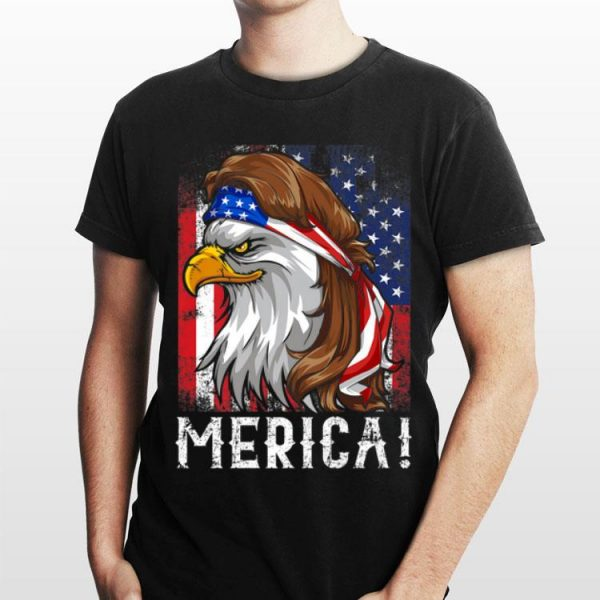Eagle Mullet T 4th of July American Flag Merica USA shirt