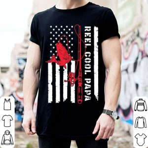 Fishing Reel cool papa American flag shirt