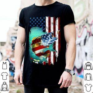 Fishing roid USA flag 4th of july shirt
