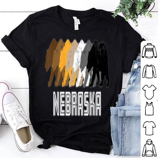 Gay Bear Nebraska Pride Rainbow Vintage Distressed shirt