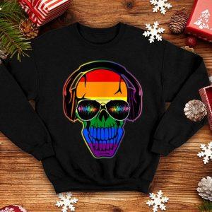 Gay Skull Dj Lgbt Pride Music Life Lgbtq shirt