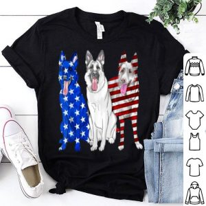 German Shepherd dog American flag 4th of July shirt