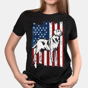 Golden Retriever Distressed Us American Flag Patriotic shirt