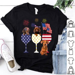 Happy Independence Day 4th Of July Wine Dachshund shirt